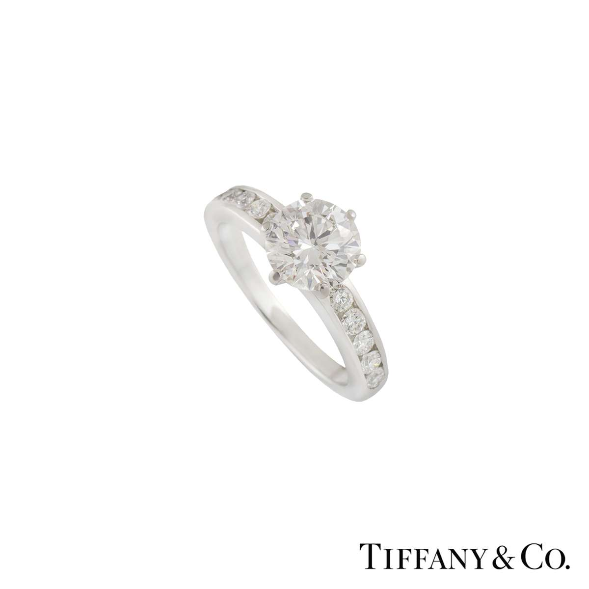 Tiffany & Co. The Tiffany Setting with Diamond Band Ring 1.45ct G/VS1